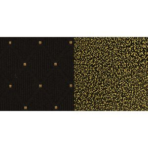Black Patterned Crown Back HERCULES™ Banquet Chair - Gold Vein Frame by Flash Furniture