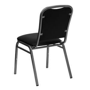 HERCULES™ Black Vinyl Banquet Chair - Silver Vein Frame by Flash Furniture