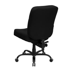 HERCULES™ 500 lb. Capacity Big & Tall Black Fabric Office Chair with Extra WIDE Seat by Flash Furniture