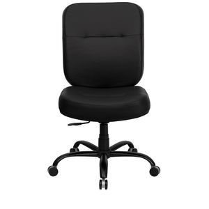 HERCULES™ 500 lb. Capacity Big & Tall Black Leather Office Chair with Extra WIDE Seat by Flash Furniture