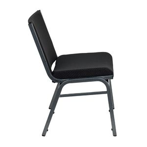 HERCULES™ 1000 lb. Capacity Big and Tall Extra Wide Black Fabric Stack Chair by Flash Furniture