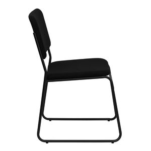 HERCULES™ 1500 lb. Capacity High Density Black Fabric Stacking Chair with Sled Base by Flash Furniture