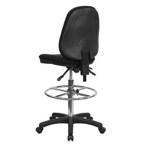 Ergonomic Multi-Functional Triple Paddle Drafting Stool with Adjustable Foot Ring by Flash Furniture