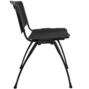 HERCULES™ Black Polypropylene Stack Chair by Flash Furniture