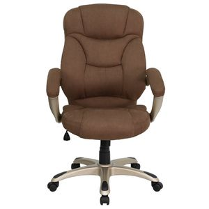 High Back Brown Microfiber Upholstered Contemporary Office Chair by Flash Furniture