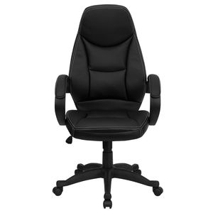 High Back Black Leather Contemporary Office Chair by Flash Furniture