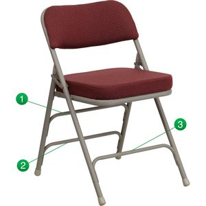 HERCULES™ Burgundy Fabric Upholstered Premium Folding Chair by Flash Furniture