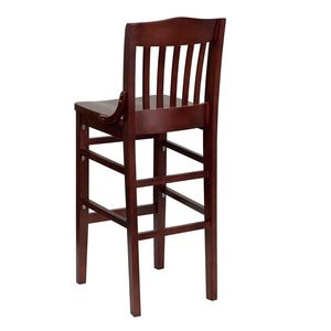 HERCULES™ Mahogany Finished School House Back Wooden Restaurant Bar Stool by Flash Furniture