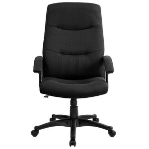 High Back Black Fabric Executive Swivel Office Chair by Flash Furniture