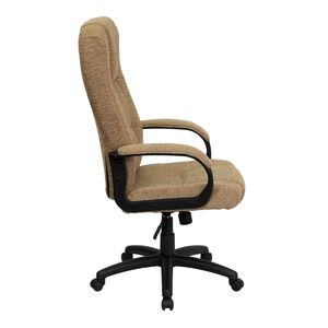 High Back Beige Fabric Executive Office Chair by Flash Furniture
