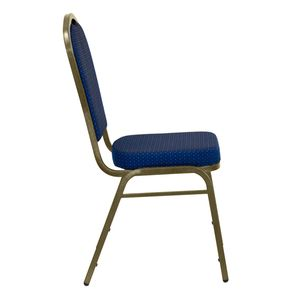 HERCULES™ Series Crown Back Stacking Banquet Chair with Gold Vein Frame by Flash Furniture