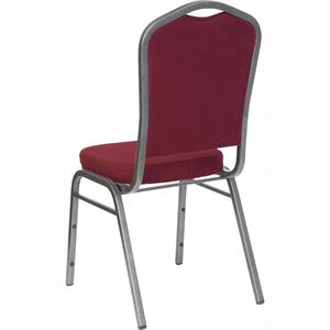 HERCULES™ Series Crown Back Stacking Banquet Chair with Silver Vein Frame by Flash Furniture