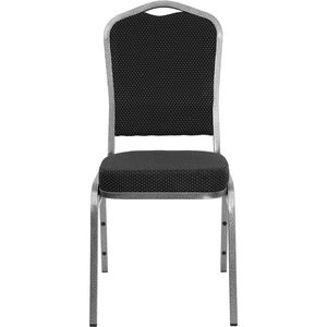 HERCULES™ Series Crown Back Banquet Chair with Silver Vein Frame by Flash Furniture