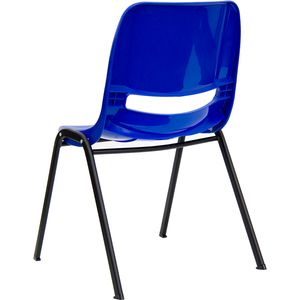HERCULES™ Blue Ergonomic Shell Stack Chair by Flash Furniture