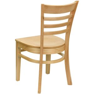 HERCULES™ Natural Wood Finished Ladder Back Wooden Restaurant Chair by Flash Furniture