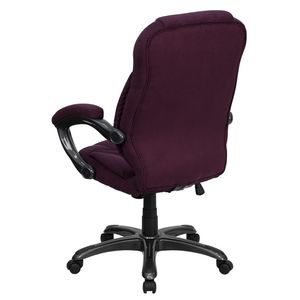 High Back Grape Microfiber Upholstered Contemporary Office Chair by Flash Furniture