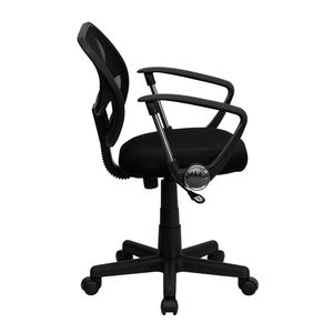 Mid-Back Black Mesh Task Chair and Computer Chair with Arms by Flash Furniture