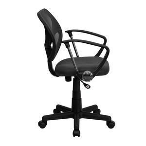 Mid-Back Gray Mesh Task Chair and Computer Chair with Arms by Flash Furniture