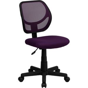 Mid-Back Purple Mesh Task Chair and Computer Chair by Flash Furniture