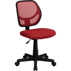 Mid-Back Red Mesh Task Chair and Computer Chair by Flash Furniture