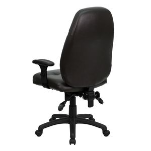 High Back Espresso Brown Leather Executive Office Chair by Flash Furniture