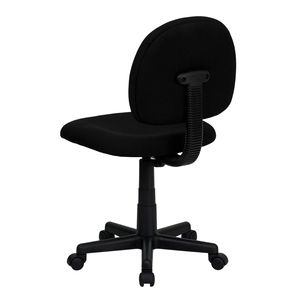 Mid-Back Ergonomic Black Fabric Task Chair by Flash Furniture