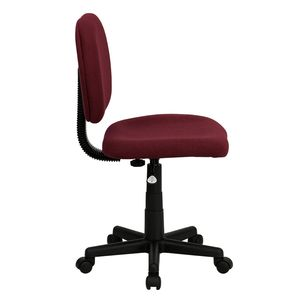 Mid-Back Ergonomic Burgundy Fabric Task Chair by Flash Furniture