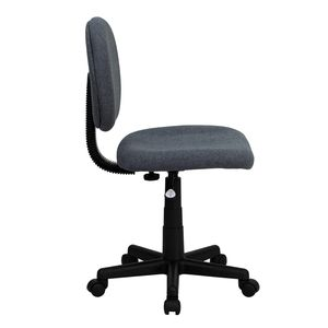 Mid-Back Ergonomic Gray Fabric Task Chair by Flash Furniture