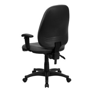 High Back Gray Fabric Ergonomic Computer Chair with Height Adjustable Arms by Flash Furniture