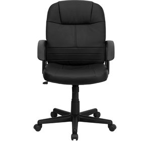 Mid-Back Black Leather Executive Swivel Office Chair by Flash Furniture