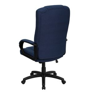 High Back Navy Fabric Executive Office Chair by Flash Furniture