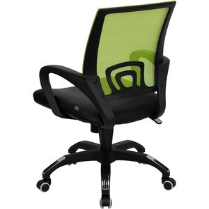 Mid-Back Green Mesh Computer Chair with Black Leather Seat by Flash Furniture