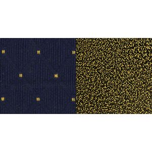 Navy Blue Patterned Crown Back HERCULES™ Banquet Chair - Gold Vein Frame by Flash Furniture