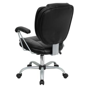 Mid-Back Black Leather Task and Computer Chair by Flash Furniture