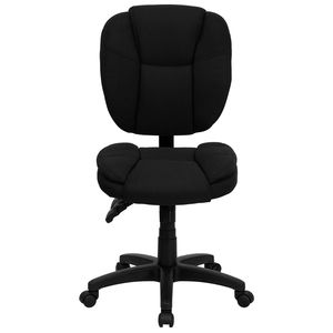 Mid-Back Black Fabric Multi-Functional Ergonomic Task Chair by Flash Furniture