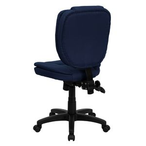 Mid-Back Navy Blue Fabric Multi-Functional Ergonomic Task Chair by Flash Furniture