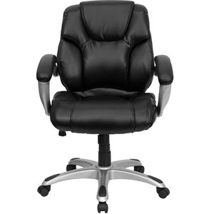 Mid-Back Black Leather Office Task Chair by Flash Furniture