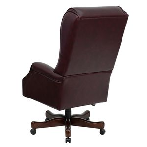 High Back Traditional Tufted Burgundy Leather Executive Office Chair by Flash Furniture