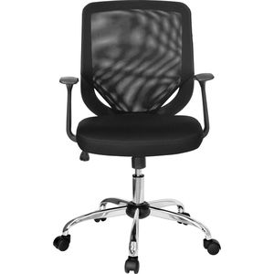 Mid-Back Black Mesh Office Chair with Mesh Fabric Seat by Flash Furniture