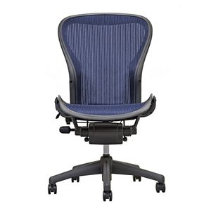 save 47 aeron chair by herman miller armless sapphire - Herman Miller Aeron Chair