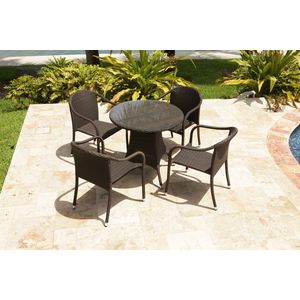 brown set patio source outdoor. Circa 5-Pc Outdoor Dining Set By Source Brown Patio