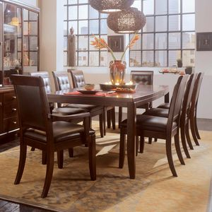 American Drew Tribecca Leg Dining Table   Root Beer Part 90