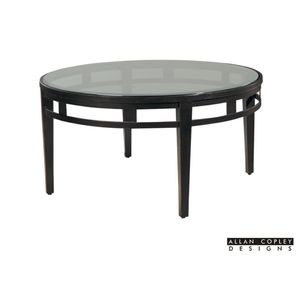 Madrid Round Glass Top Cocktail Table by Allan Copley Designs