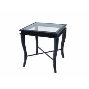 Dania Square Glass Top End Table by Allan Copley Designs
