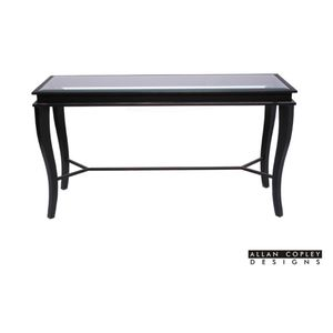 Dania Glass Top Console Table by Allan Copley Designs