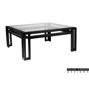 Paulette Square Glass Top Cocktail Table by Allan Copley Designs