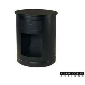 Clio 1-Drawer Round End Table in Espresso Finish by Allan Copley Designs