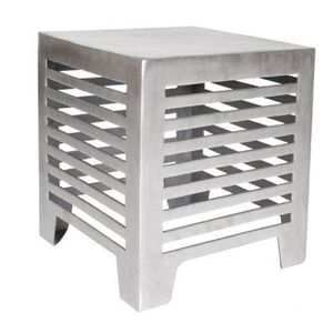 Jersey Square End Table in Matte Cast Aluminum by Allan Copley Designs