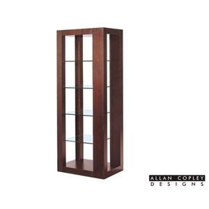 Dado 5-Tier Glass Shelf Wall Unit in Espresso Finish by Allan Copley Designs