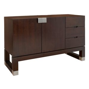 Calligraphy 2-Door, 3-Drawer Buffet in Espresso Finish with Stainless Steel Accents by Allan Copley Designs